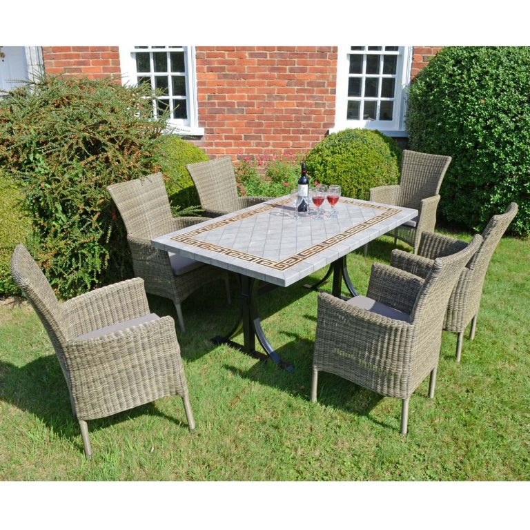 BURLINGTON DINING TABLE WITH 6 DORCHESTER CHAIRS SET LG2