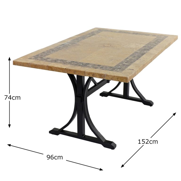 CHARLESTON DINING TABLE DIMENSION MS1