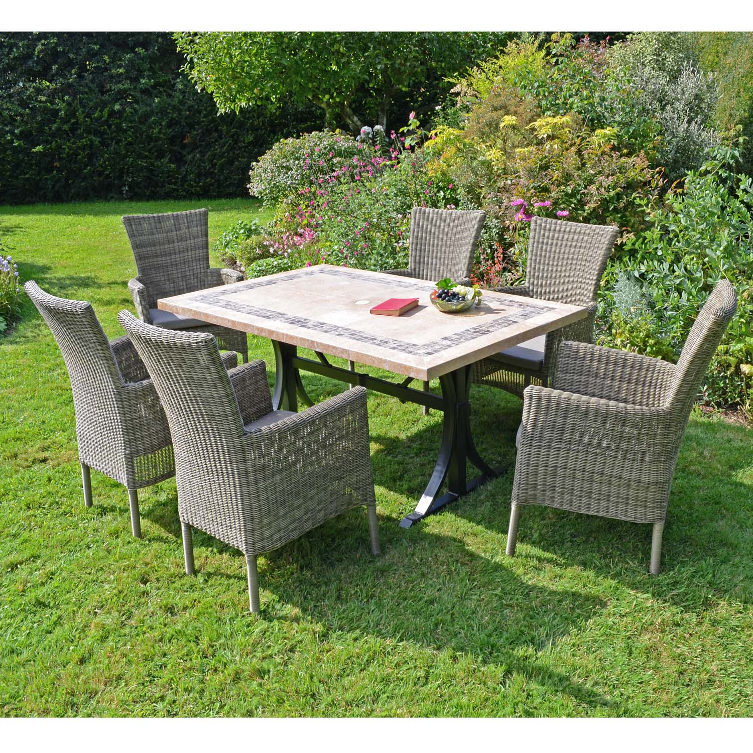 CHARLESTON DINING TABLE WITH 6 DORCHESTER CHAIRS SET LG2
