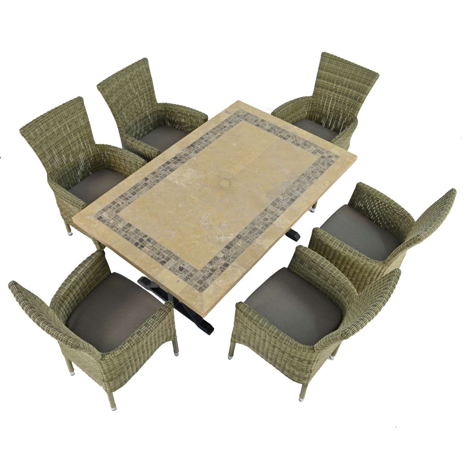 CHARLESTON DINING TABLE WITH 6 DORCHESTER CHAIRS SET WG1