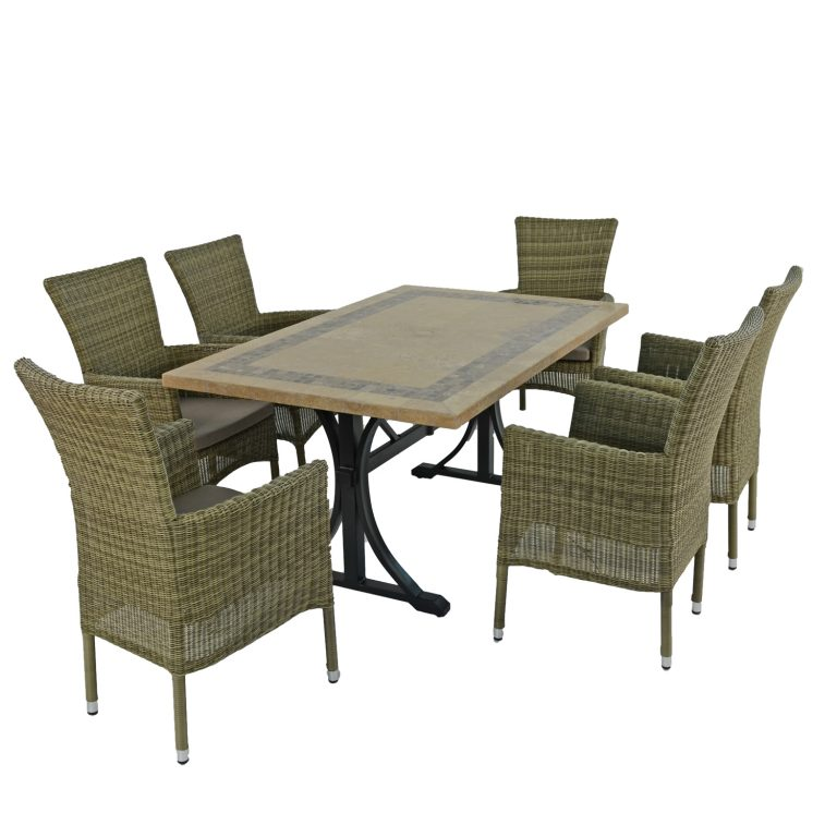 CHARLESTON DINING TABLE WITH 6 DORCHESTER CHAIRS SET WG2
