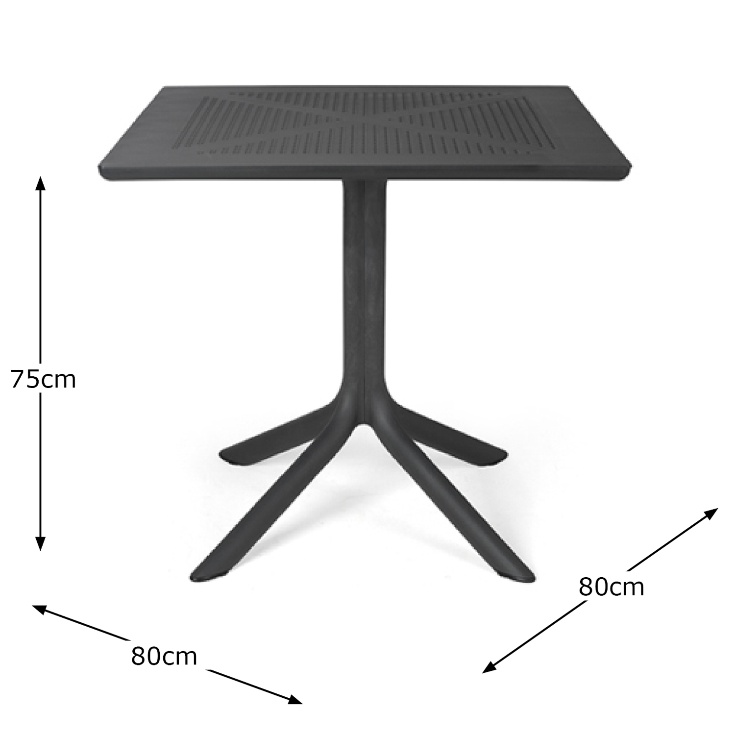 CLIP TABLE ANTHRACITE DIMENSION MS1