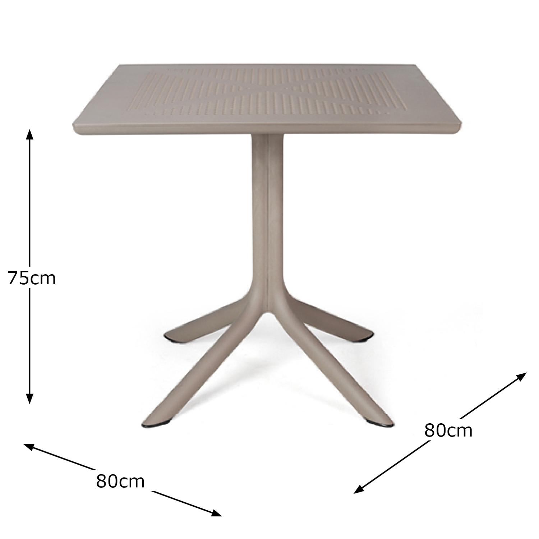 CLIP TABLE TURTLE DOVE DIMENSION MS1