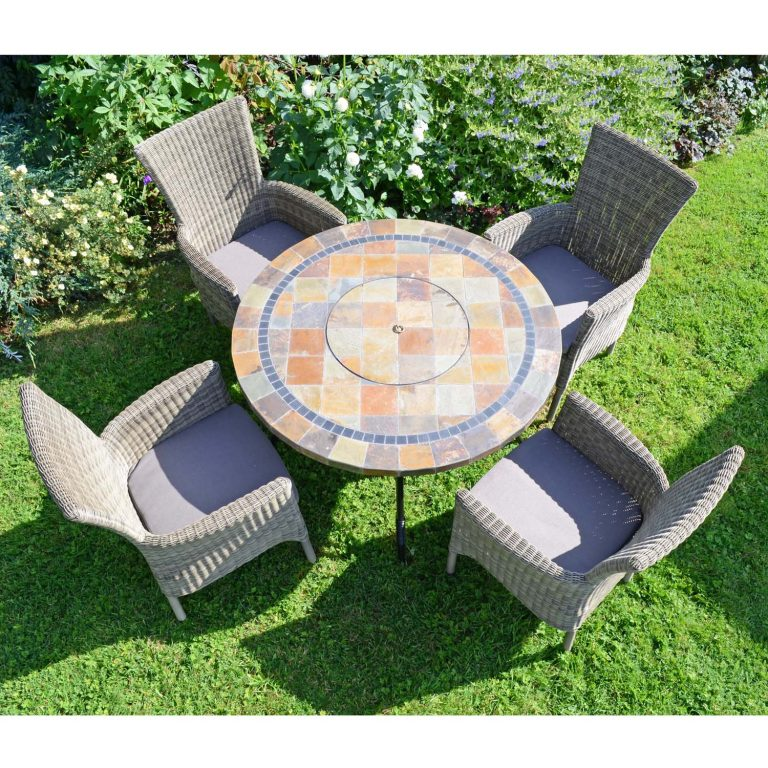 COLORADO FIRE PIT TABLE WITH 4 DORCHESTER CHAIRS SET LG2