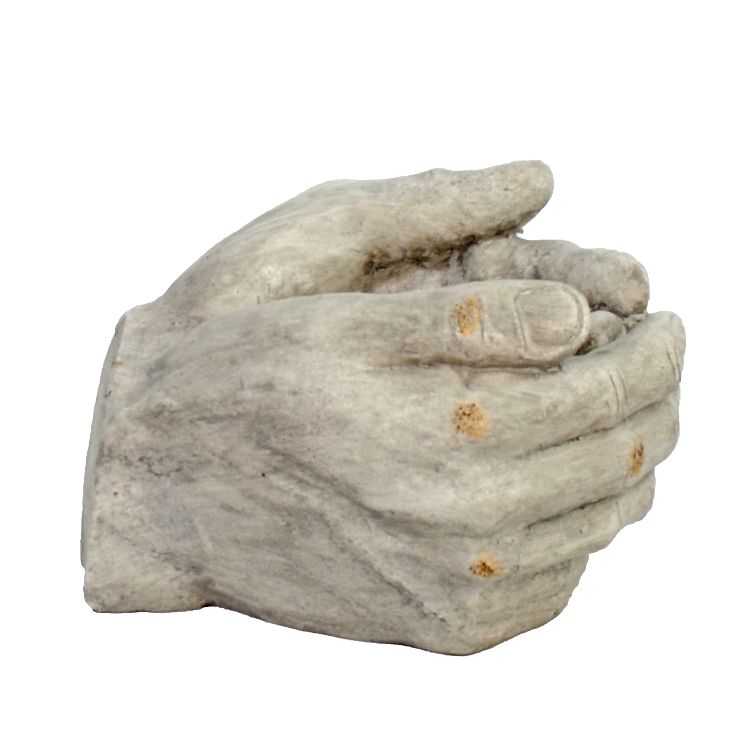 CUPPED HANDS PLANTER 19CM WEATHERED STONE EFFECT PROFILE WS4