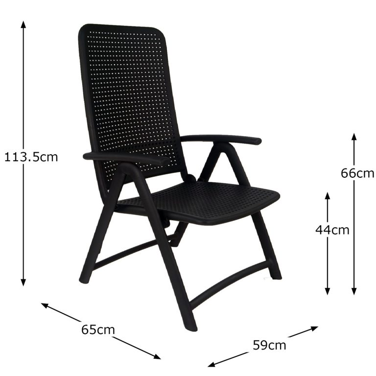 DARSENA CHAIR ANTHRACITE DIMENSION MS1