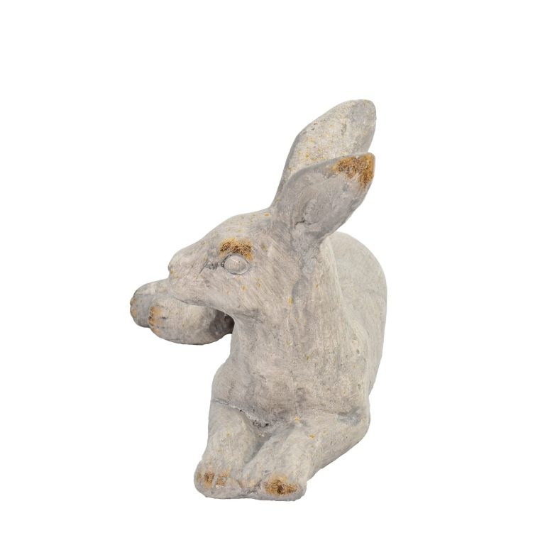 HARE LYING 24CM WEATHERED STONE EFFECT PROFILE WS12