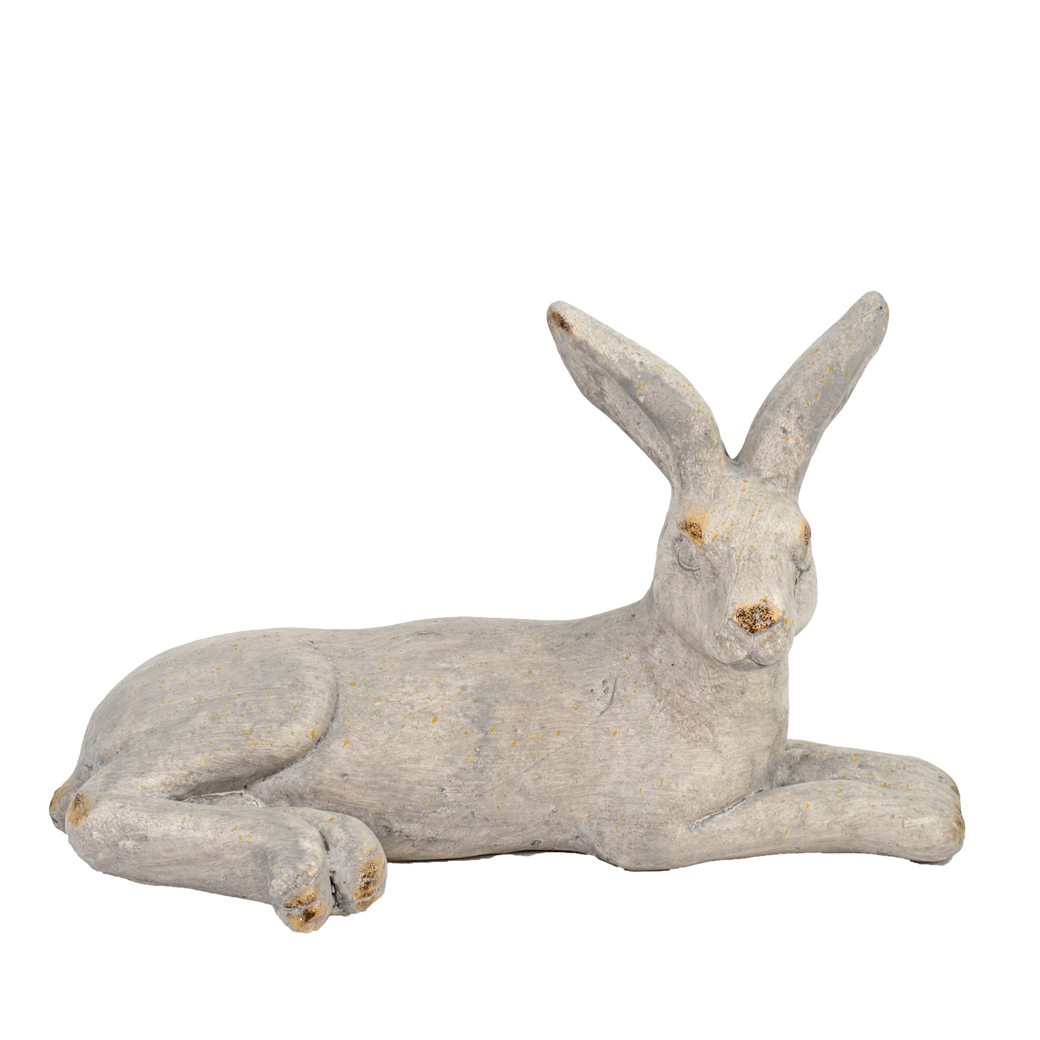 HARE LYING 24CM WEATHERED STONE EFFECT PROFILE WS3