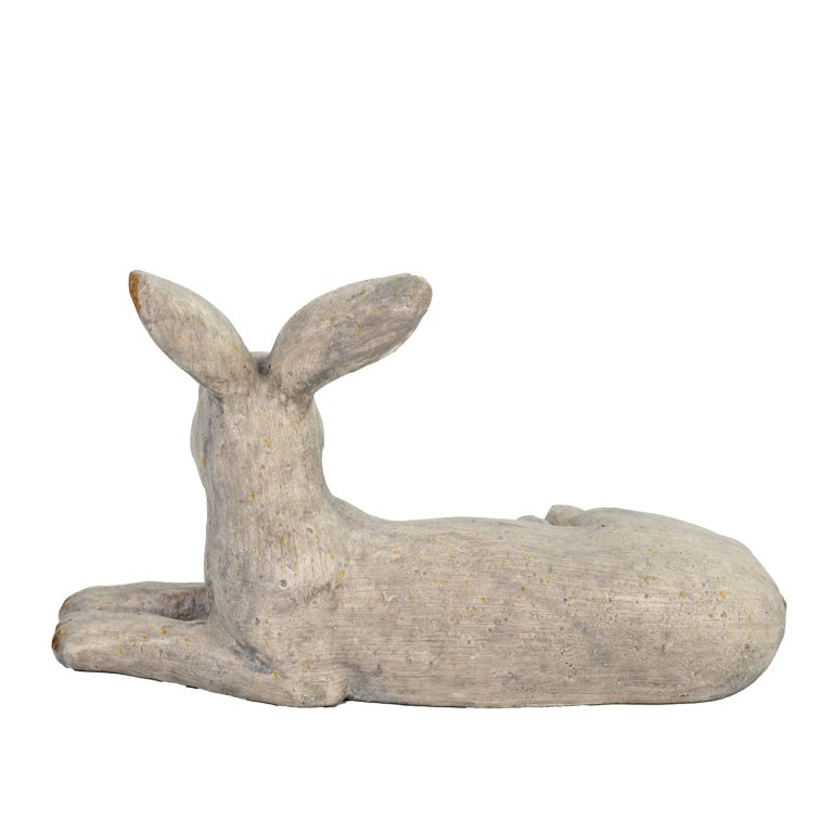 HARE LYING 24CM WEATHERED STONE EFFECT PROFILE WS7
