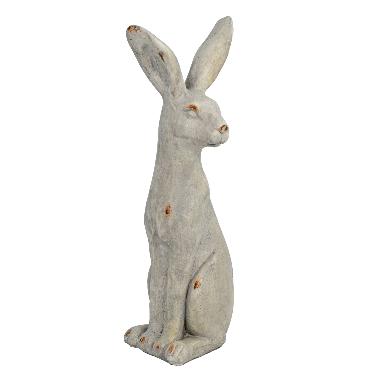 HARE SITTING 61CM WEATHERED STONE EFFECT PROFILE WS1