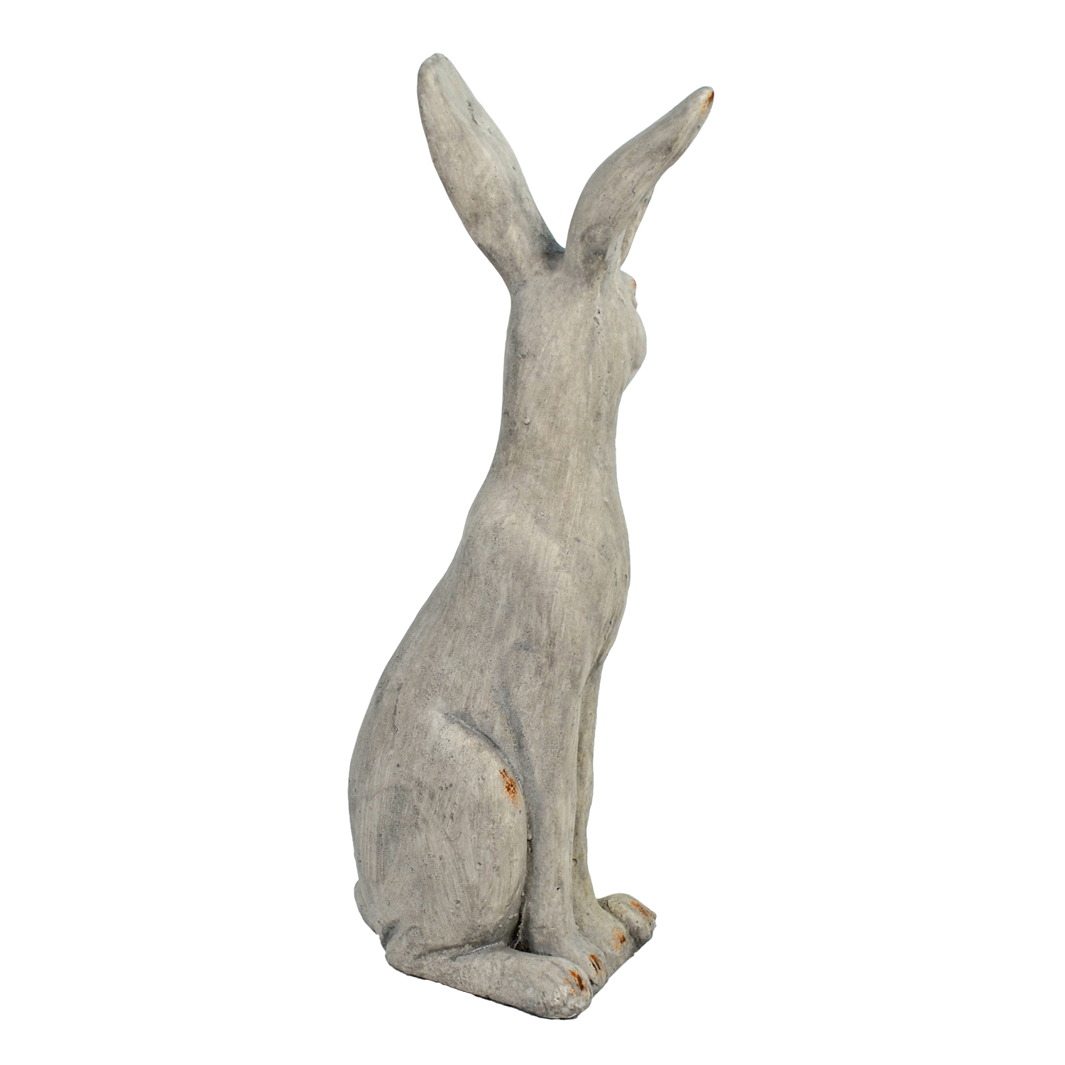 HARE SITTING 61CM WEATHERED STONE EFFECT PROFILE WS11