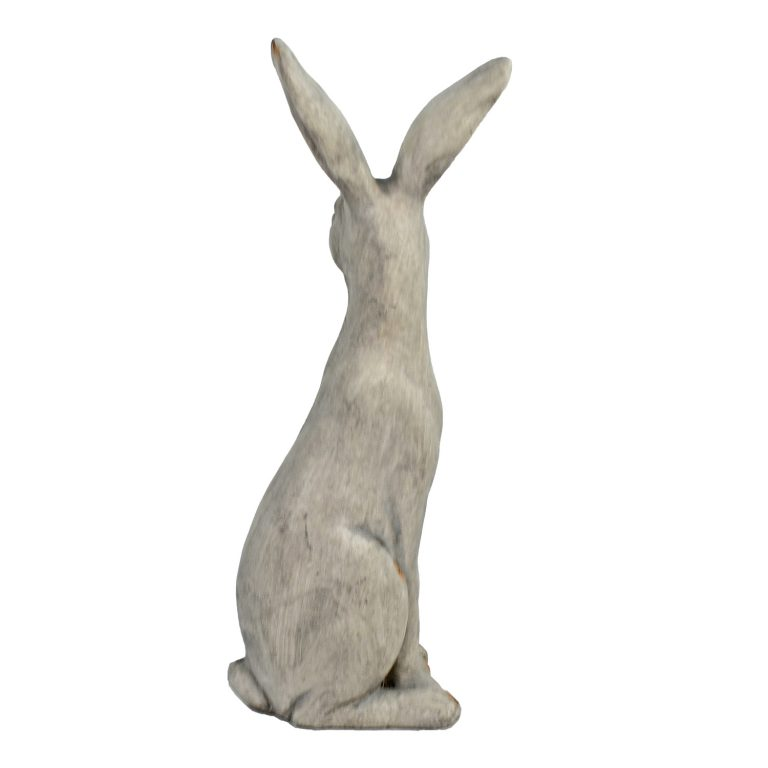 HARE SITTING 61CM WEATHERED STONE EFFECT PROFILE WS12