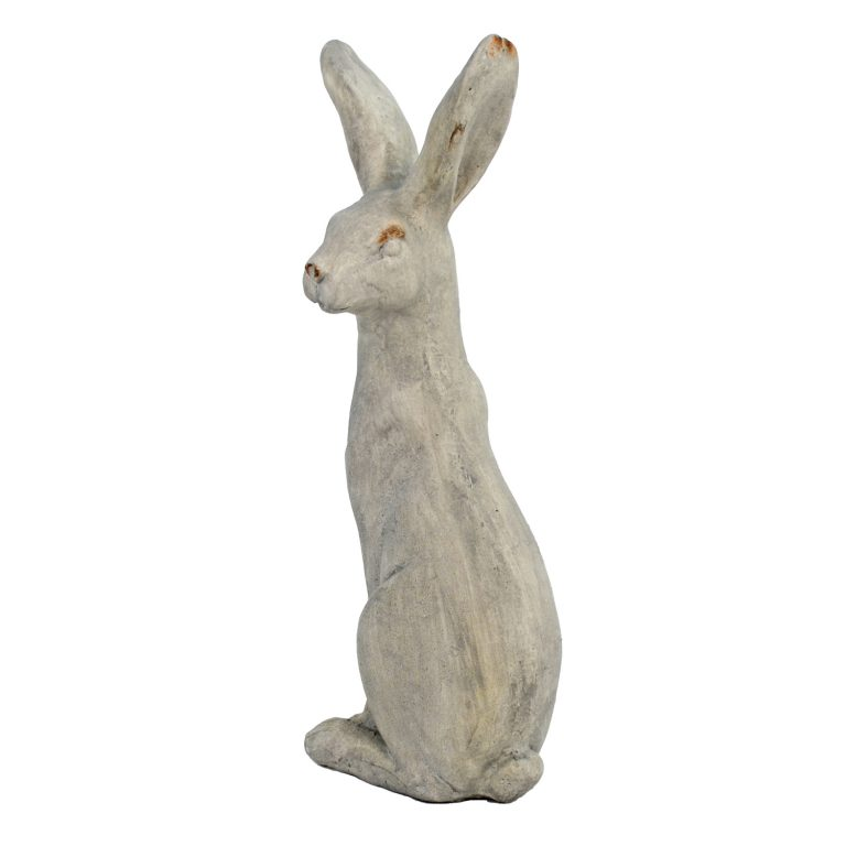 HARE SITTING 61CM WEATHERED STONE EFFECT PROFILE WS4