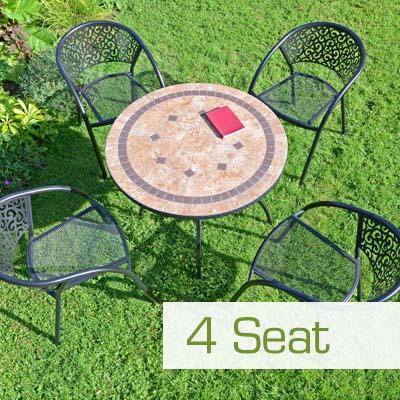 4 Seat Garden Furniture Dining Set