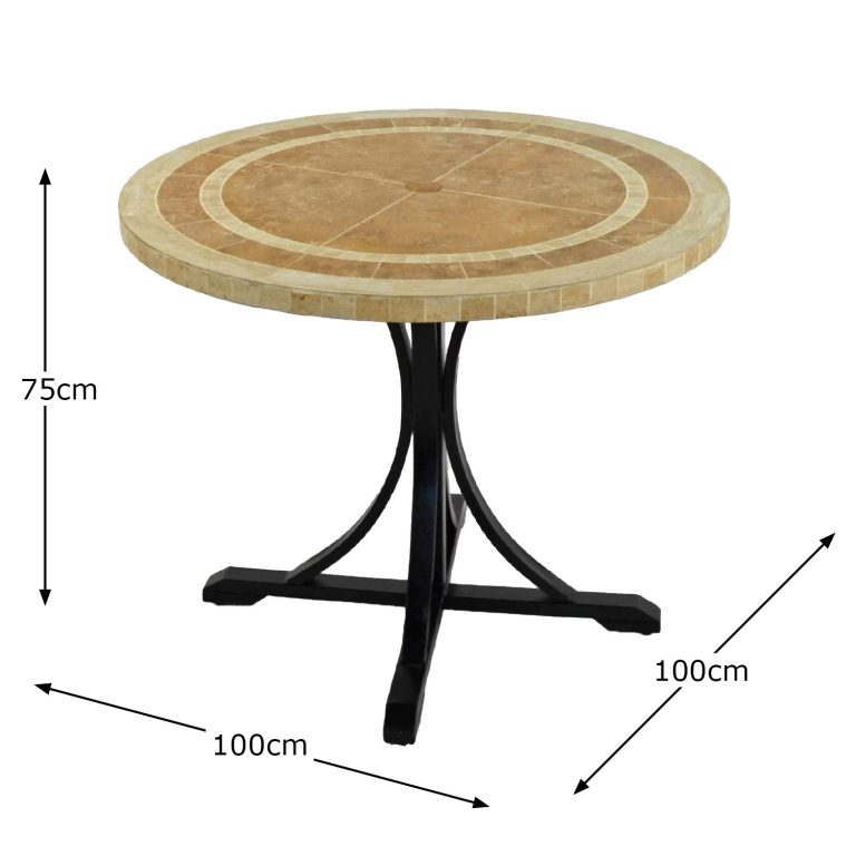 LANGLEY 100CM DINING TABLE DIMENSION MS1