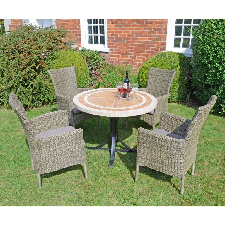 LANGLEY DINING TABLE WITH 4 DORCHESTER CHAIRS SET LG2