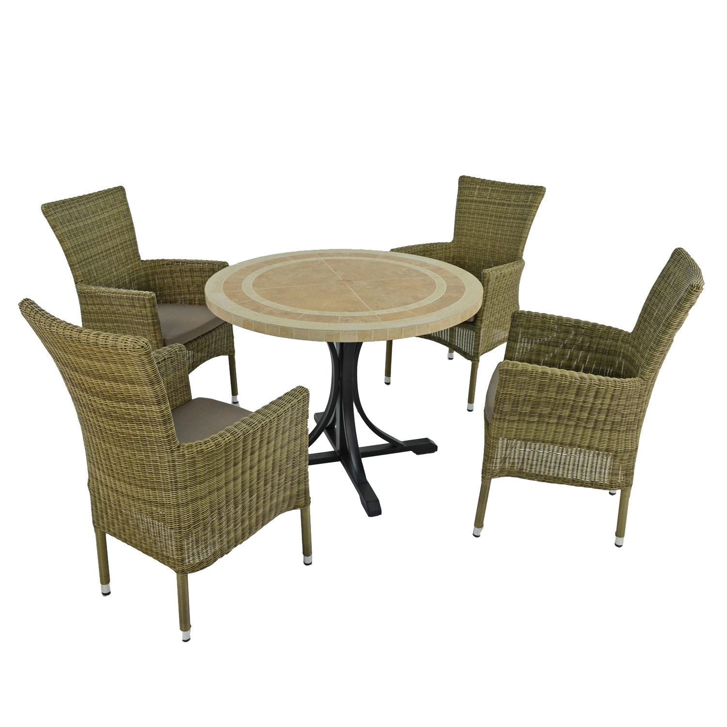LANGLEY DINING TABLE WITH 4 DORCHESTER CHAIRS SET WG2