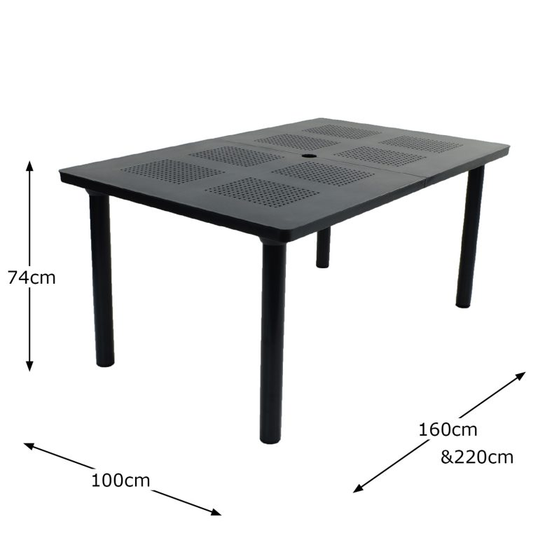 LIBECCIO TABLE ANTHRACITE DIMENSION MS1