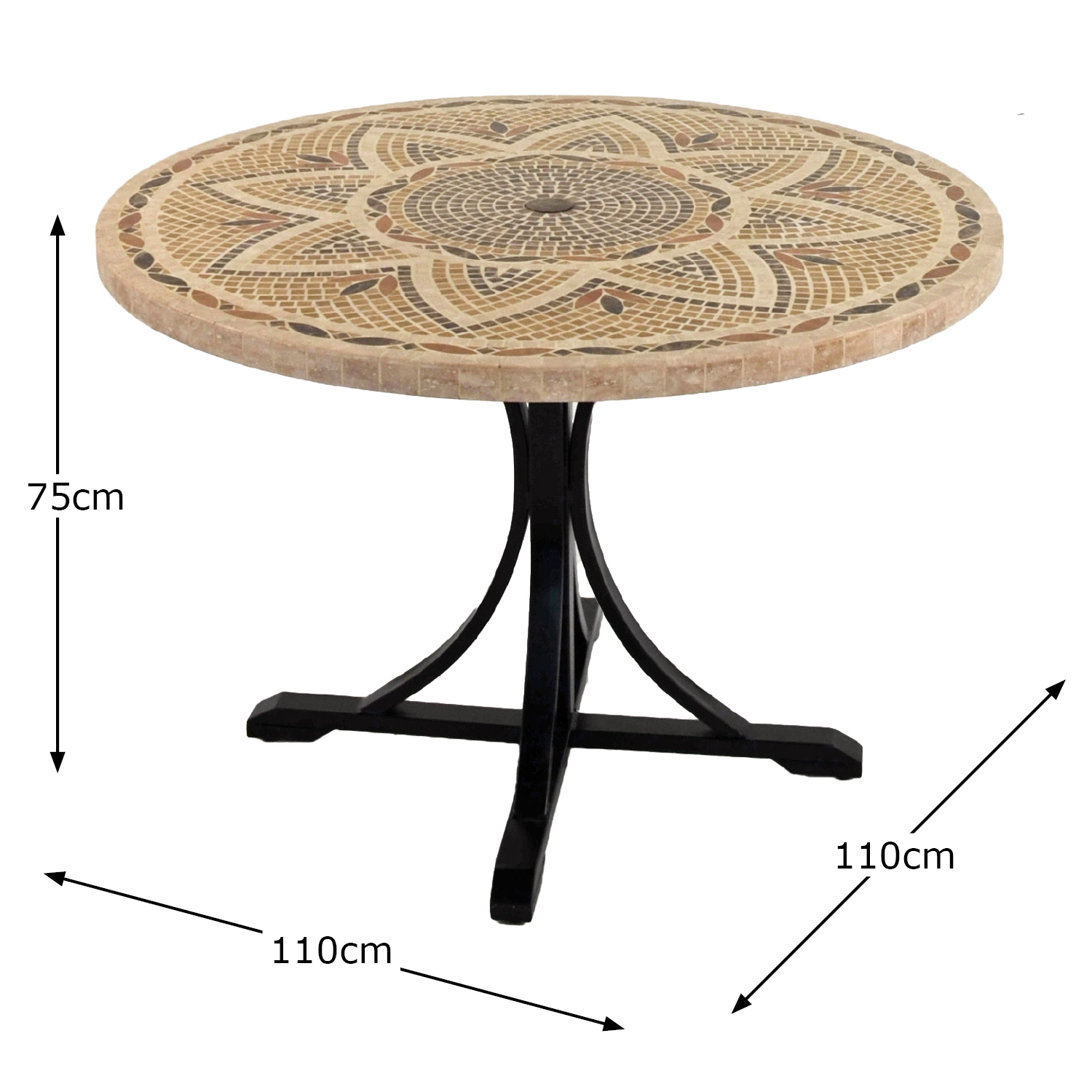 MONTPELLIER 110CM DINING TABLE DIMENSION MS1
