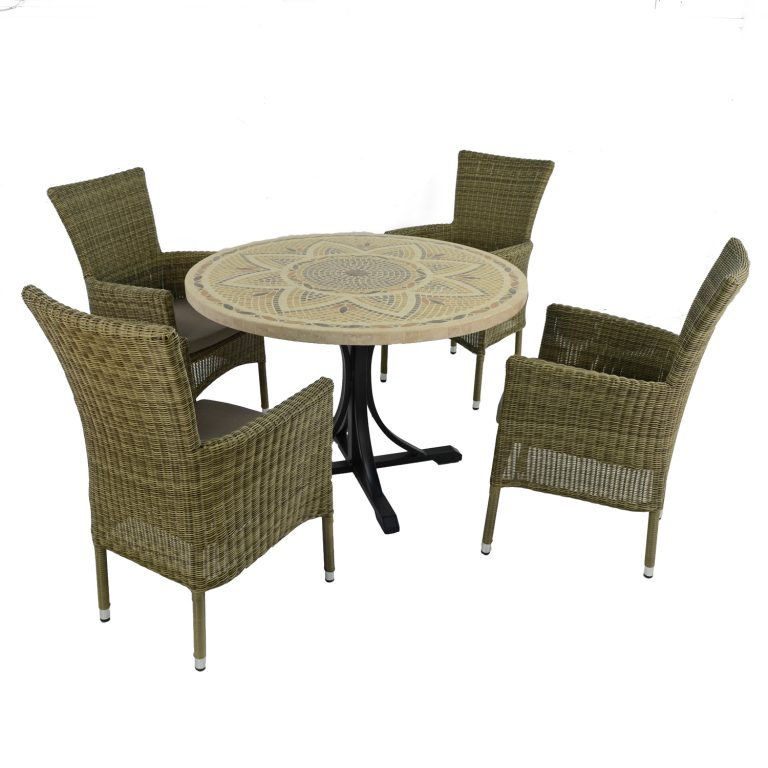 MONTPELLIER DINING TABLE WITH 4 DORCHESTER CHAIRS SET WG2