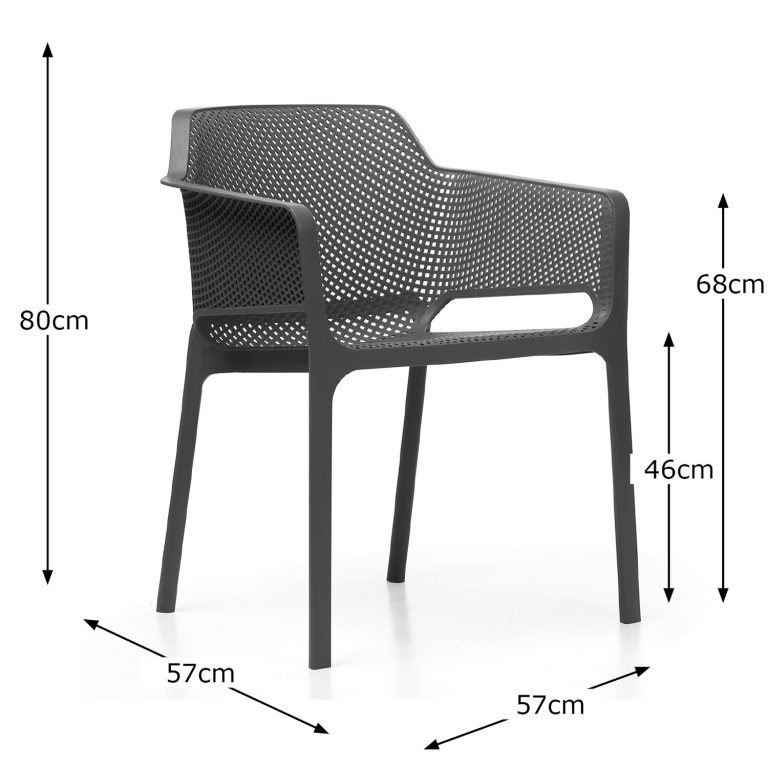 NET CHAIR ANTHRACITE DIMENSION MS1