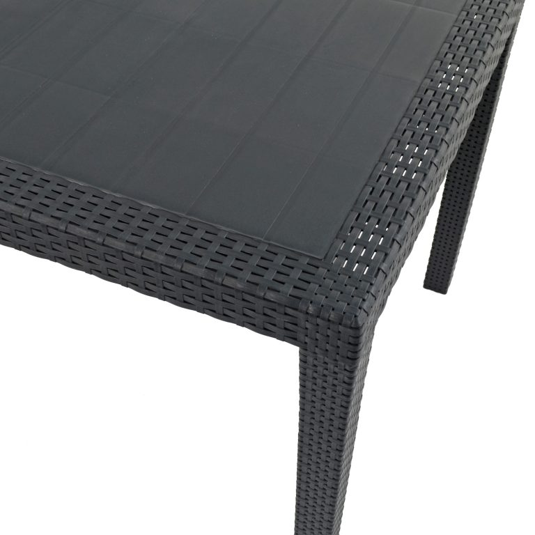 SALERNO SQUARE TABLE ANTHRACITE DETAIL WS3