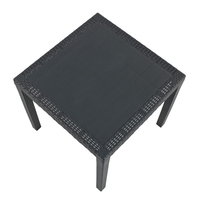 SALERNO SQUARE TABLE ANTHRACITE PROFILE WS2