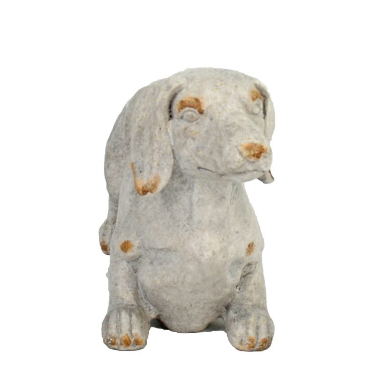 SAUSAGE DOG PLANTER 30CM WEATHERED STONE EFFECT PROFILE WS11