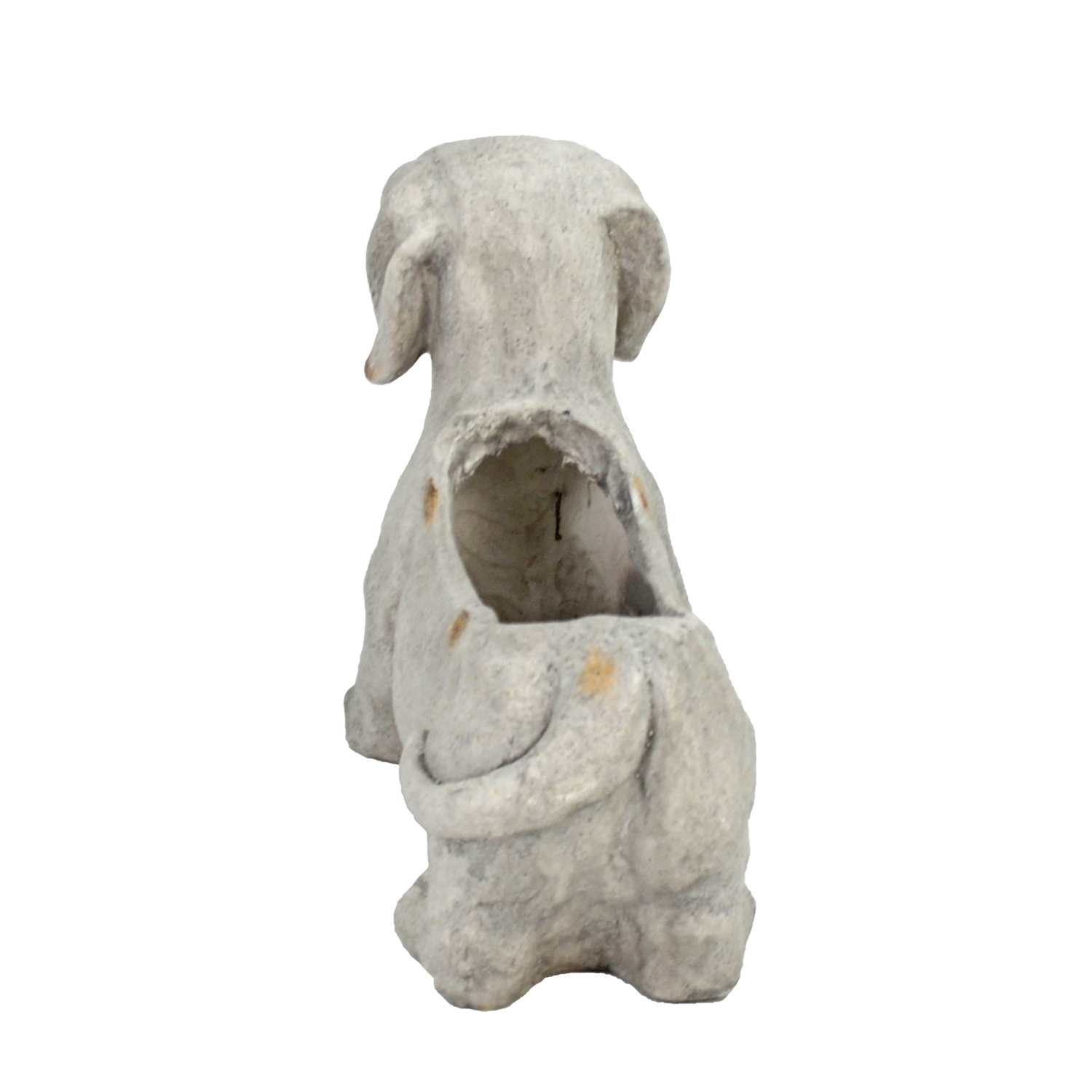 SAUSAGE DOG PLANTER 30CM WEATHERED STONE EFFECT PROFILE WS9