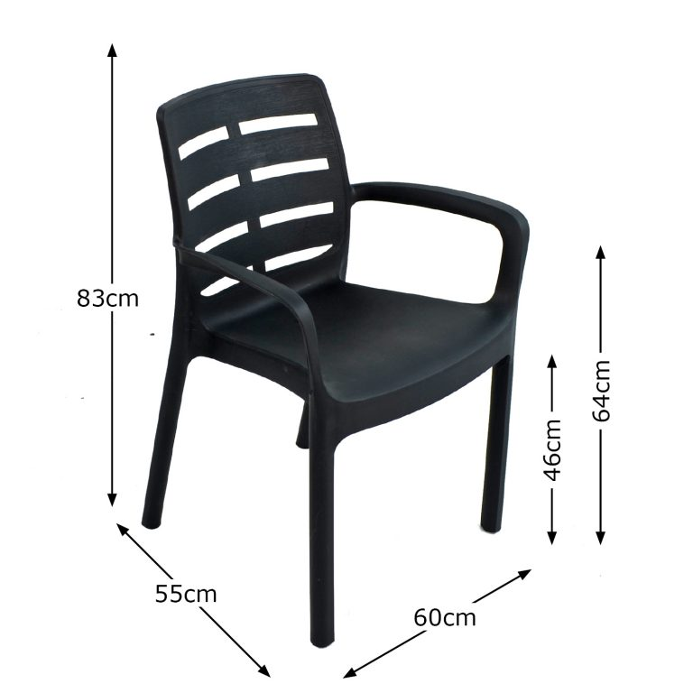 SIENA CHAIR ANTHRACITE DIMENSION MS1