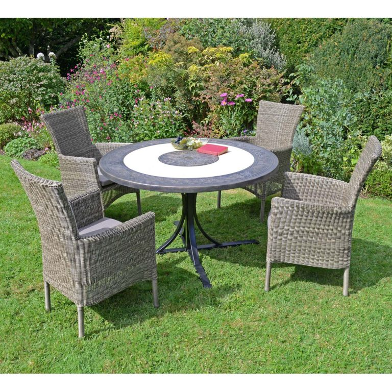 ST MALO DINING TABLE WITH 4 DORCHESTER CHAIRS SET LG2