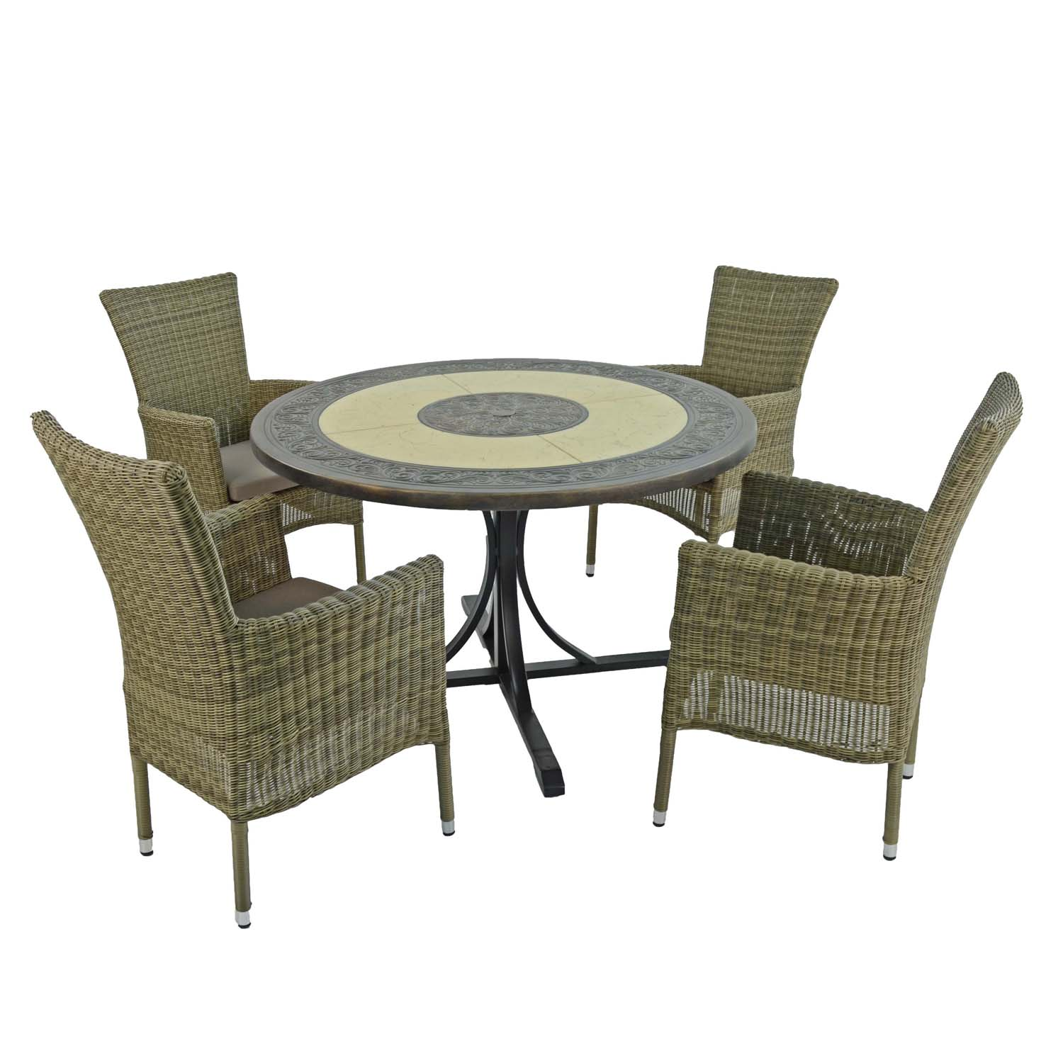 ST MALO DINING TABLE WITH 4 DORCHESTER CHAIRS SET WG2