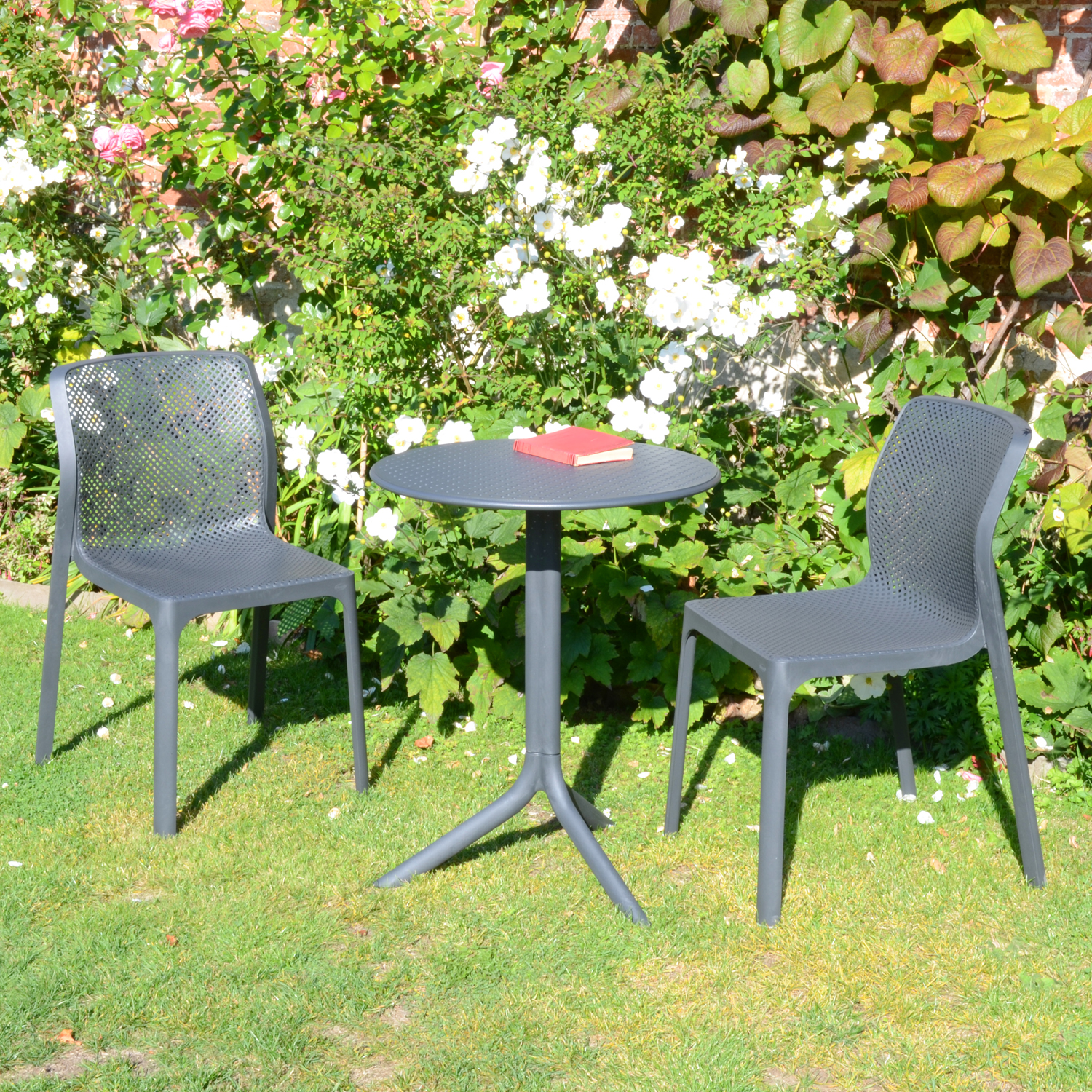 STEP TABLE WITH 2 BIT CHAIR SET ANTHRACITE LG1