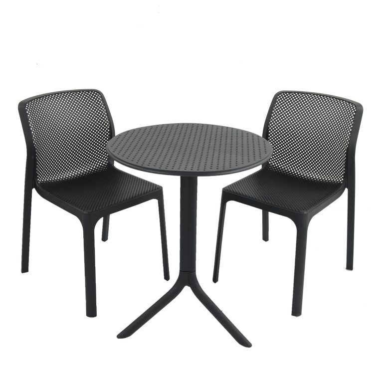 STEP TABLE WITH 2 BIT CHAIR SET ANTHRACITE WG1