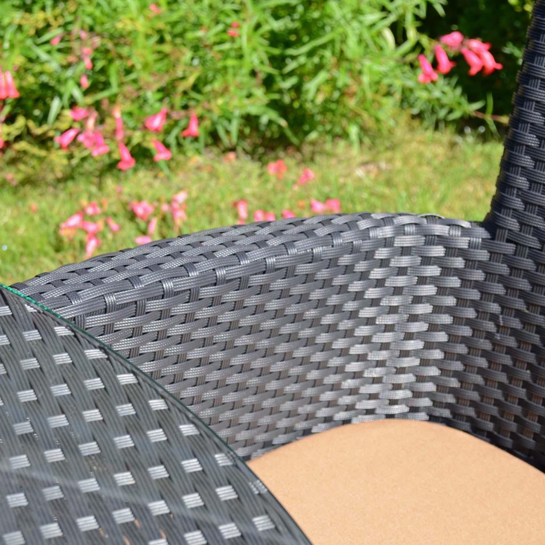 STOCKHOLM 4 SEAT SET BLACK SET LS4