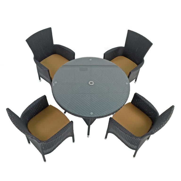 STOCKHOLM 4 SEAT SET BLACK SET WS1