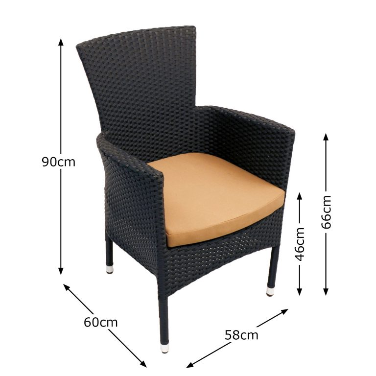 STOCKHOLM CHAIR BLACK DIMENSION MS1