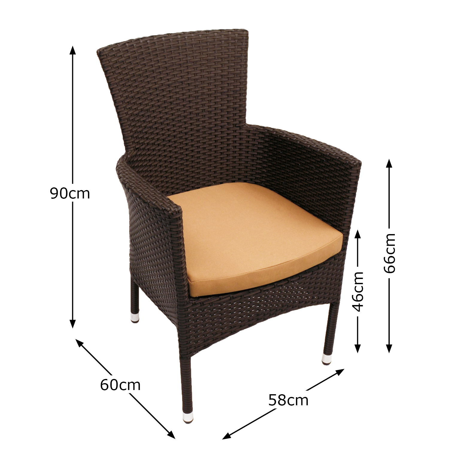 STOCKHOLM CHAIR BROWN DIMENSION MS1