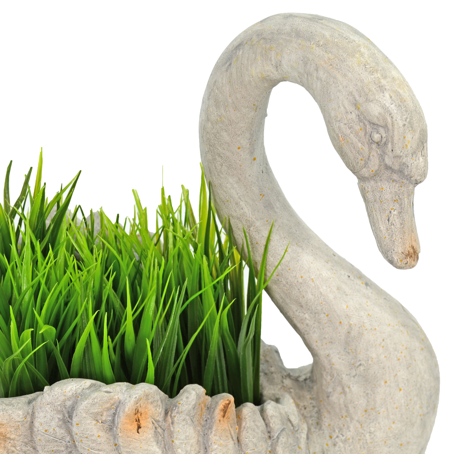 SWAN PLANTER 41CM WEATHERED STONE EFFECT DETAIL WS6 1