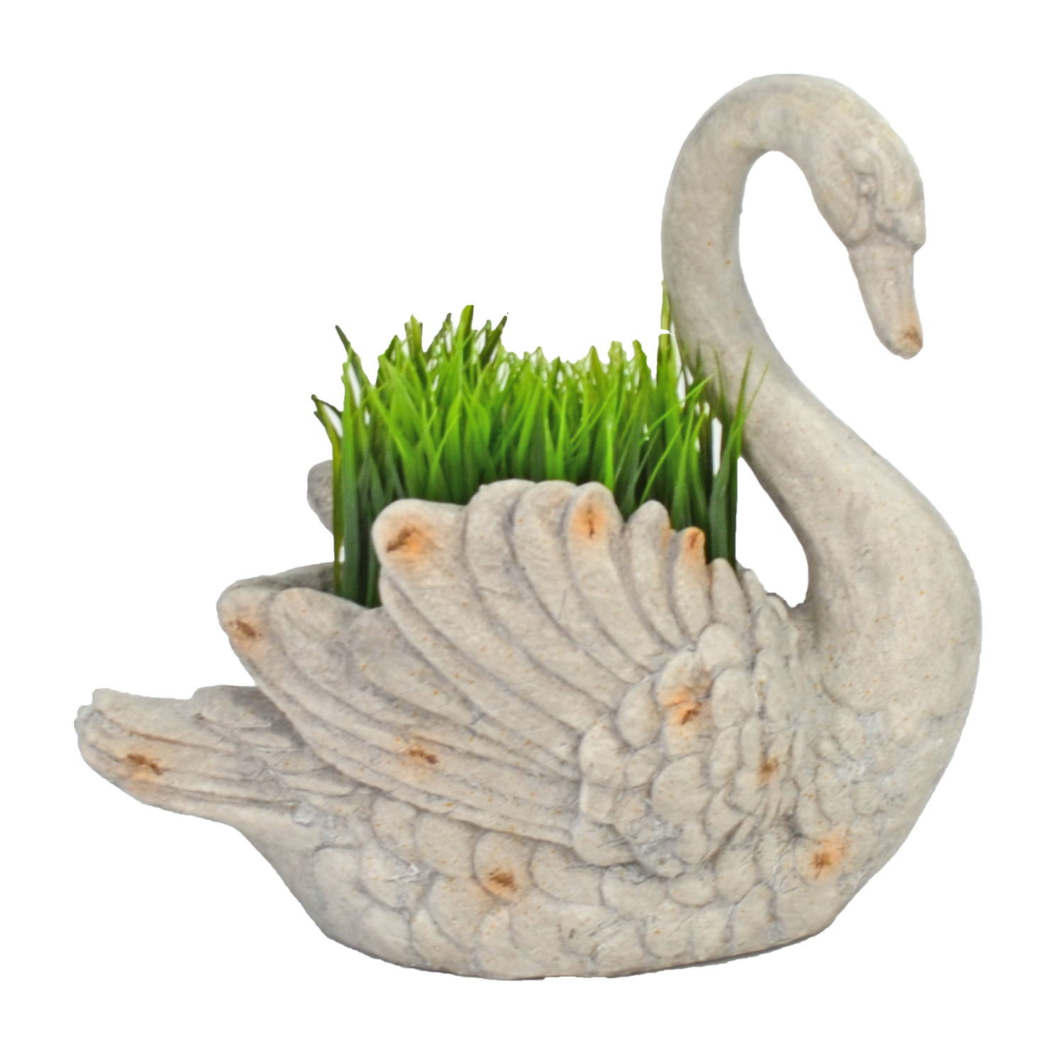 SWAN PLANTER 41CM WEATHERED STONE EFFECT PROFILE WS12 1