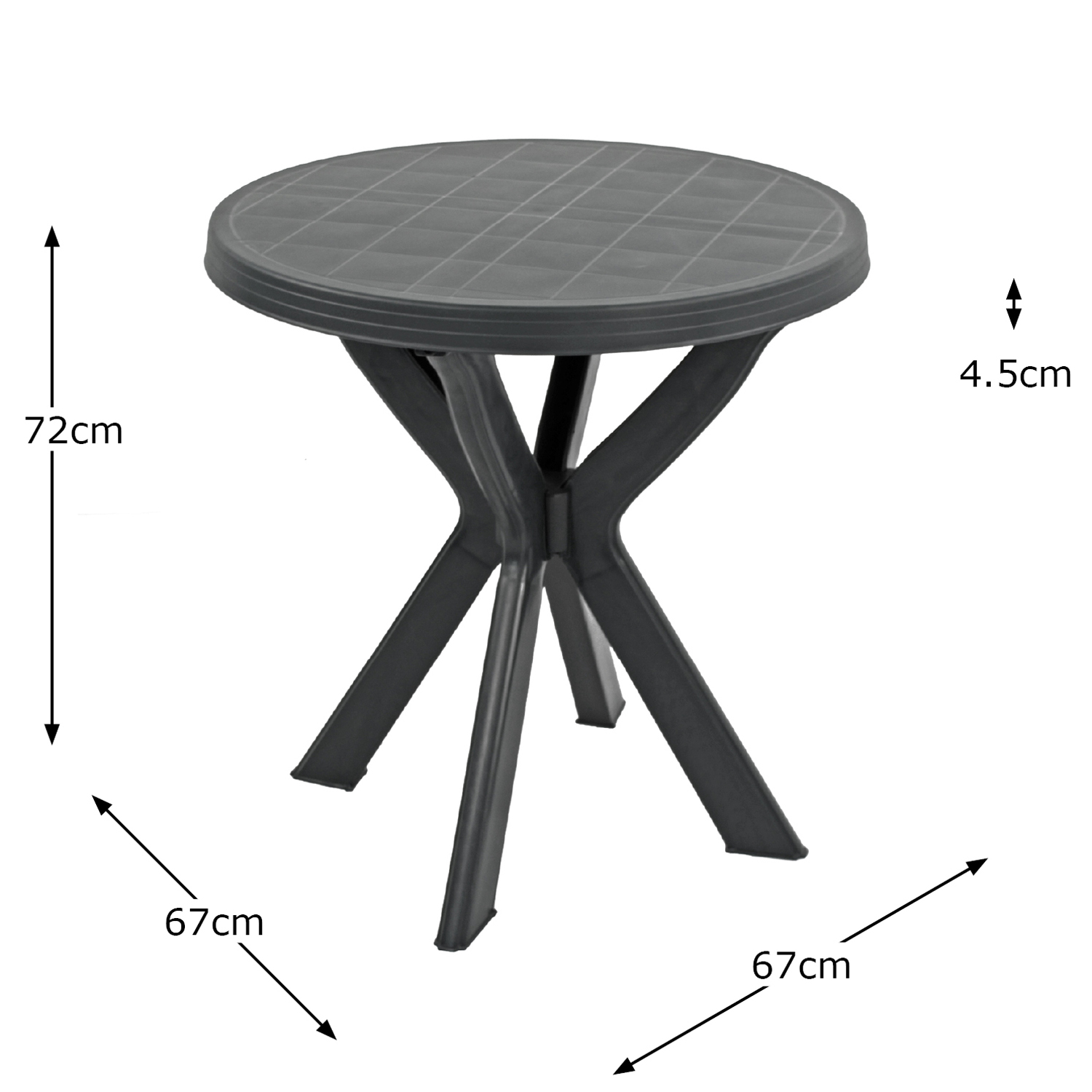 TIVOLI BISTRO TABLE ANTHRACITE DIMENSION MS1