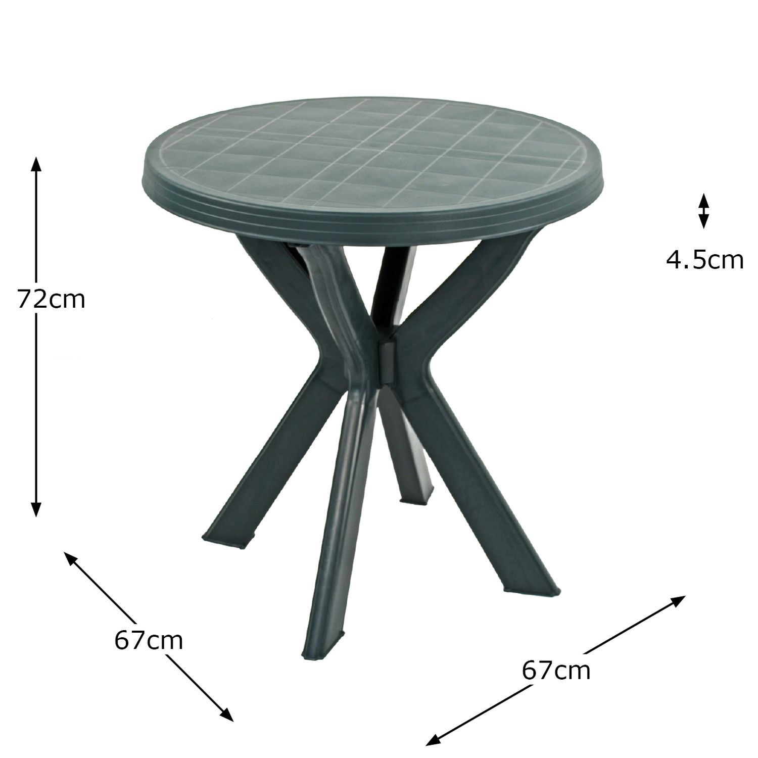 TIVOLI BISTRO TABLE GREEN DIMENSION MS1