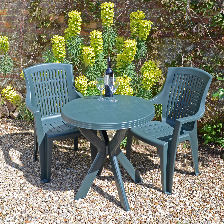 TIVOLI TABLE WITH 2 PARMA CHAIRS SET GREEN LG1