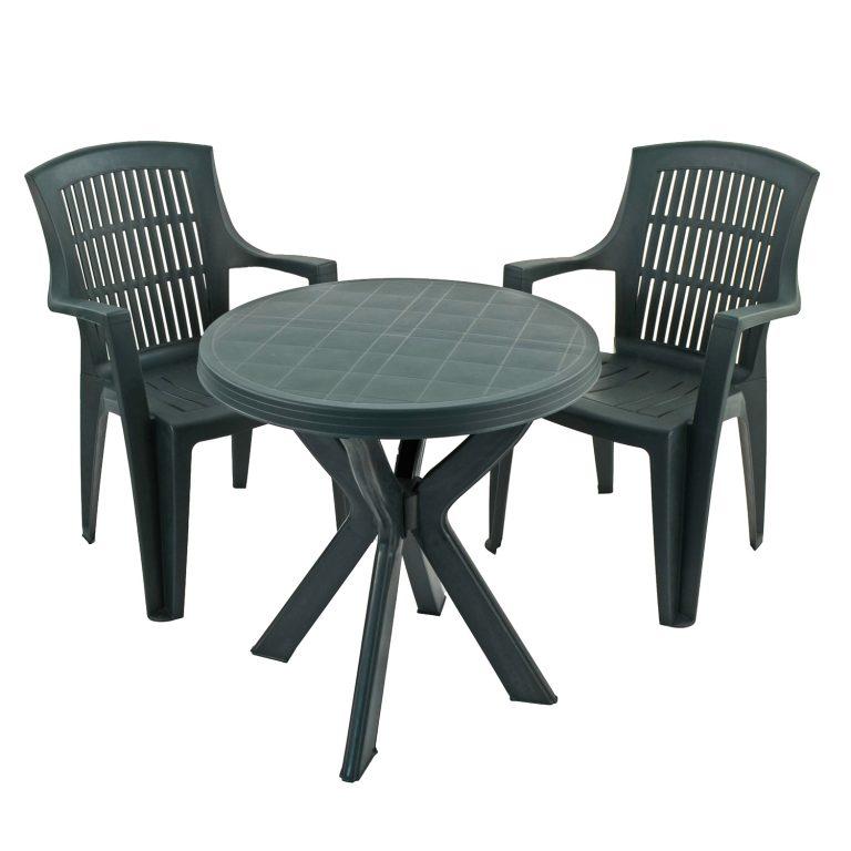 TIVOLI TABLE WITH 2 PARMA CHAIRS SET GREEN WG1