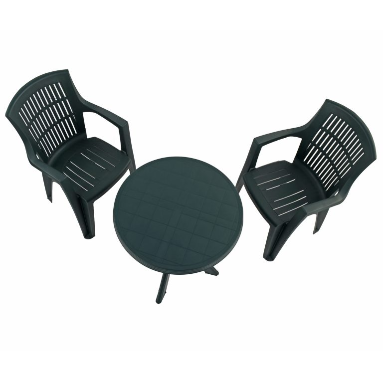 TIVOLI TABLE WITH 2 PARMA CHAIRS SET GREEN WG2