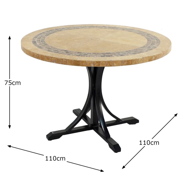 VERMONT 110CM DINING TABLE DIMENSION MS1