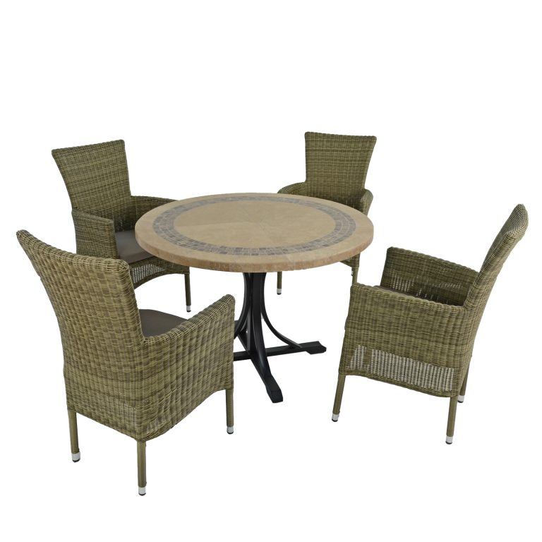 VERMONT DINING TABLE WITH 4 DORCHESTER CHAIRS SET WG2