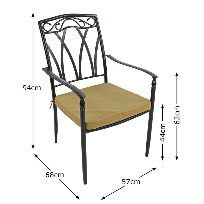 ASCOT DINING CHAIR DIMENSION MS10