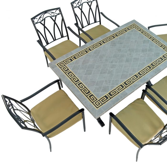 BURLINGTON DINING TABLE WITH 6 ASCOT CHAIRS SET WG2