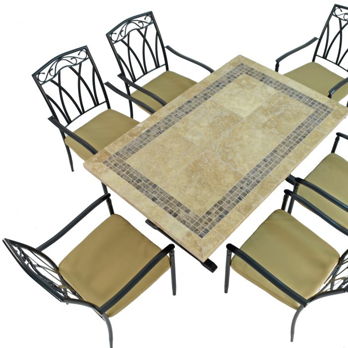 CHARLESTON DINING TABLE WITH 6 ASCOT CHAIRS SET WG2